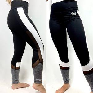 VS PINK | Ultimate Mesh Colorblack Yoga Leggings